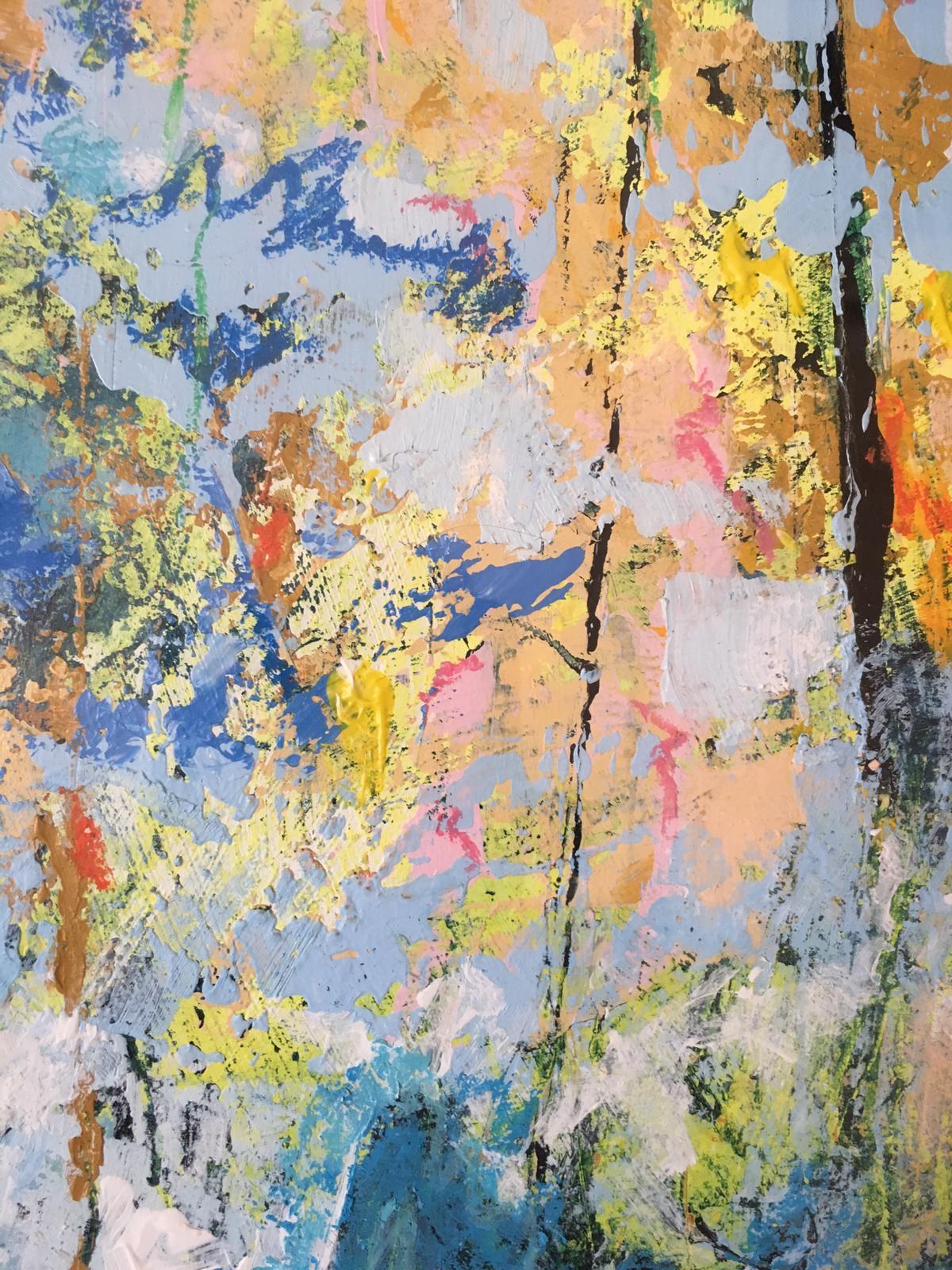 summergarden details blauw